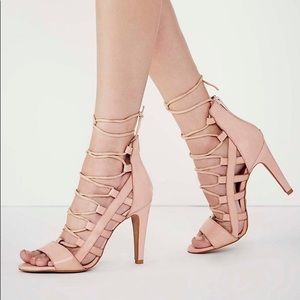 Sixty Seven Lace-Up Stiletto Heels sz 8-8.5